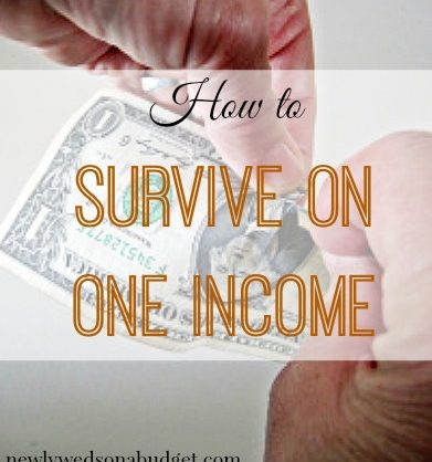 surviving on one income, one income only tips, living off on one income