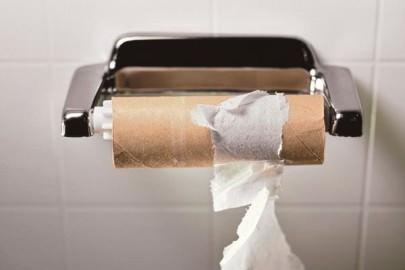empty toilet paper