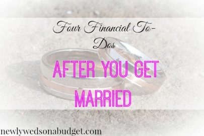 financial advice, after wedding to-do, financial tips