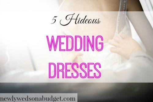 bad ideas for a wedding dress, hideous wedding dresses, wedding dress fails