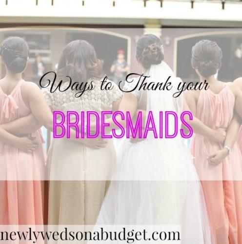 ways to thank bridesmaids, saying thanks to bridesmaids, gratitude to bridesmaids