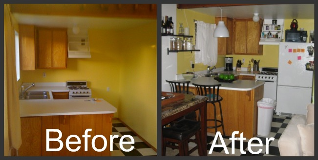 Decorating On A Budget Newlyweds On A Budget: very small space kitchen design