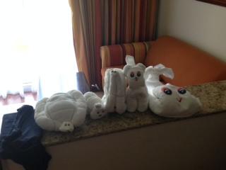 hotel riu palace towel animals