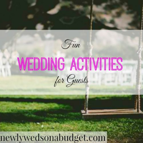wedding ideas for guests fun wedding activities for guests newlyweds on a budget 27881