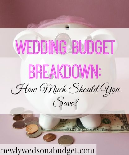 wedding budget breakdown how much should you save newlyweds on a
