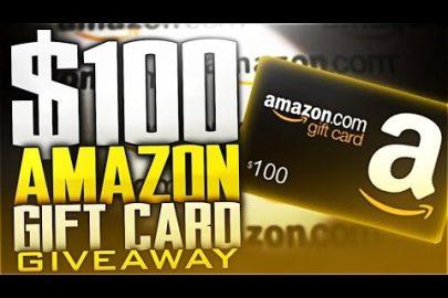 Score a $100 gift card on Amazon, hooray!
