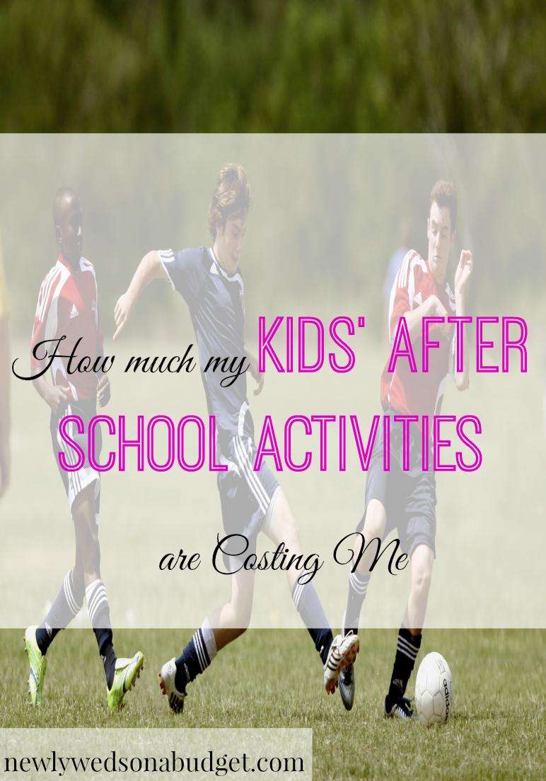 cost of kids' after-school activities, cost of kids' sports, cost of kids' activities